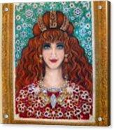 Sarah Goldberg Beauty Queen. Beadwork Acrylic Print
