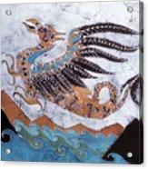 Beaked Dragon Flies Above The Sea Acrylic Print by Carol  Law Conklin