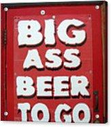 Beale Street Sign Acrylic Print