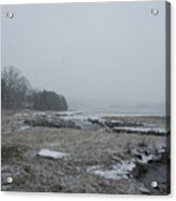Beals Cove During A Snow Storm Acrylic Print