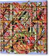 Beams Abstract Art Acrylic Print