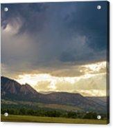Beams Of Sunlight On Boulder Colorado Foothills Acrylic Print