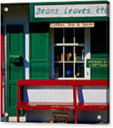 Beans, Leaves, Etc. Acrylic Print