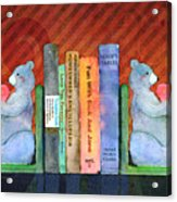 Bear Bookends Acrylic Print by Arline Wagner