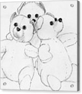 Bear Huddle Acrylic Print