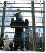 Bear In The Window Acrylic Print
