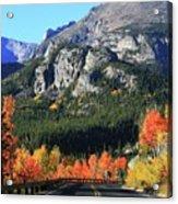 Bear Lake Road In Autumn Acrylic Print