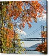 Bear Mountain Bridge Fall Color Acrylic Print