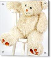 Bear On A Chair Acrylic Print