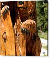 Bear On Trail Acrylic Print
