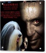 Bearded Collie Art Canvas Print - Hannibal Movie Poster Acrylic Print