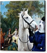 Bearded Collie Art Canvas Print - Picnic After The Hunt Acrylic Print
