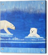 Bears In Global Warming Acrylic Print