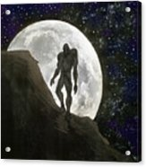 Beast At Full Moon Acrylic Print
