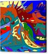 Beast In Colorful Coat Acrylic Print