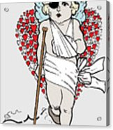 Beaten Up Cupid Art - Funny Love Broken Heart Art Acrylic Print