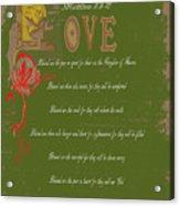 Beatitudes Acrylic Print