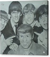 Beatles With A New Friend Acrylic Print