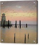 Beau Rivage Lighthouse And Marina Acrylic Print