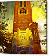 Beaumont Tower  Acrylic Print by Paul Bartoszek