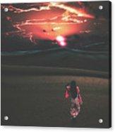 Beauties Of The Desert At Sunset Acrylic Print