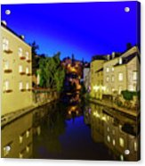 Beautiful Alzette River Side Scene On Road Rue Munster Acrylic Print