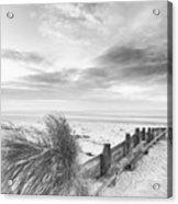 Beautiful Beach Coastal Low Tide Landscape Image At Sunrise In B Acrylic Print