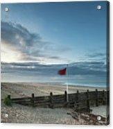Beautiful Beach Coastal Low Tide Landscape Image At Sunrise With Acrylic Print