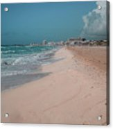 Beautiful beach in Cancun, Mexico Acrylic Print