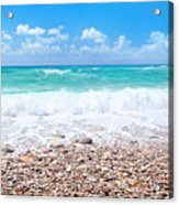 Beautiful Beach Panoramic Landscape Acrylic Print