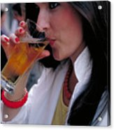 Beautiful Beer Drinker Acrylic Print