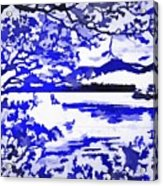 Beautiful Blue Pop Art Scene Acrylic Print