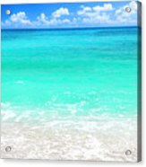 Beautiful Blue Sea Beach Acrylic Print by Anna Om