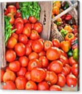 The Bountiful Harvest At The Farmer's Market Acrylic Print
