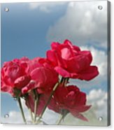 Beautiful Bouquet Of Roses Acrylic Print