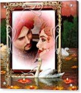 Beautiful Bridal Couple In Love Acrylic Print