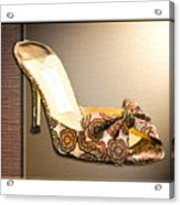 Beautiful Brocade Slippers For A Ball Acrylic Print
