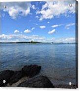 Beautiful Calm Ocean Water's In Casco Bay Maine Acrylic Print