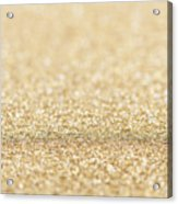 Beautiful Champagne Gold Glitter Sparkles Acrylic Print