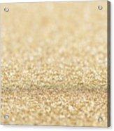 Beautiful Champagne Gold Glitter Sparkles Acrylic Print