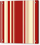 Modern Christmas Stripe Pattern Series Red Currant, Cream, Blush Acrylic Print
