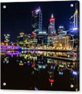 Beautiful Cityscape At Perth's Elizabeth Quay  Acrylic Print