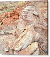 Beautiful Color In Wash 3 Of Valley Of Fire Acrylic Print