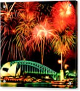 Beautiful Colorful Holiday Fireworks 2 Acrylic Print