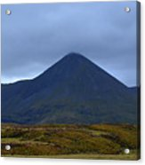 Beautiful Countryside In Cuillen Hills With A Large Mountain  Acrylic Print