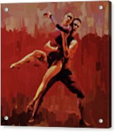 Beautiful Couple Dance 02 Acrylic Print