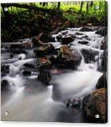 Beautiful Creek In Western Ghats Region Of Karnataka State India Acrylic Print