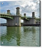 Beautiful Day At The Bridge Of Lions Acrylic Print