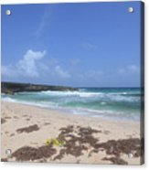 Beautiful Deserted Boca Keto Beach In Aruba Acrylic Print