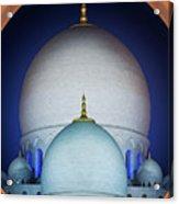 Beautiful Detail At Mosque, Abu Dhabi, United Arab Emirates Acrylic Print